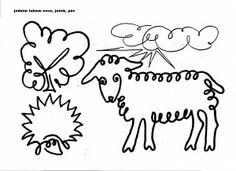 Jednotažka Line Drawing, Worksheets, Arabic Calligraphy, Drawings, Simple Lines, Arabic Calligraphy Art, Sketch, Portrait, Drawing