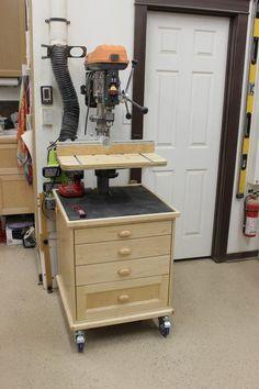 Drill Press Storage Unit, Table, & Fence