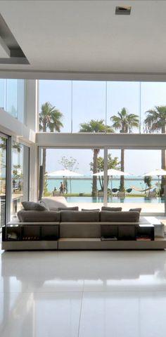 Love the hammock! Want the palm trees!  Beach Villa in Bahrain