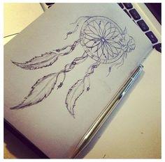 dream catcher tattoo: