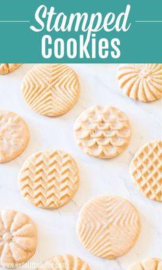 Stamped Sugar Cookie Recipe, Cookie Recipe For Embossed Rolling Pin, Best Sugar Cookie Recipe, Cookie Dough Recipes, Delicious Cookie Recipes, Best Cookie Recipes, Honey Cookies, Easy Sugar Cookies, Yummy Cookies