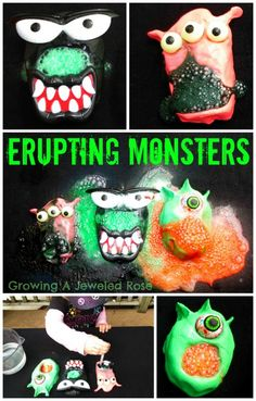 Erupting monsters,for some spooky science fun!