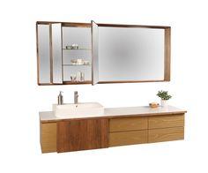 Wall*nut Vanity XL and  Wall*nut Medicine Cabinet XL