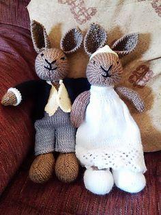 Ravelry: Vickijhen's Bunny boy and girl