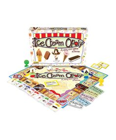 This Junior Ice Cream opoly Board Game by Late for the Sky is perfect! #zulilyfinds