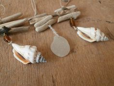 Driftwood and shell ornaments
