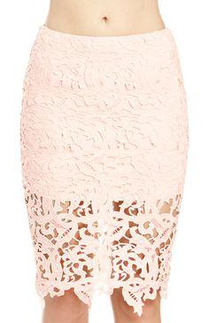 Venetian Lace Skirt | DAILYLOOK