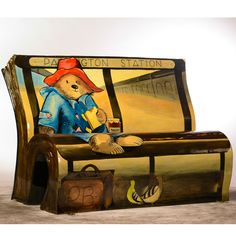 """London Books about Town - This summer, grab a seat next to Paddington Bear, Mary Poppins, or Sherlock Holmes as the classic British characters are commemorated in bench form around London. The 51 """"BookBenches"""" will celebrate England's literary heritage until they're auctioned off for charity in October. Via T+L (www.travelandleisure.com)."""