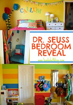 OMG!!  CUTEST ROOM EVER!!!  Dr Seuss Bedroom from Bombshell Bling.