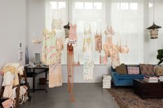 Biggie in a Bra [[MORE]]British artist Zoe Buckman has been known to work in various media, including photography, sculpture, and drawing; her latest project, Every Curve, combines vintage lingerie, hand embroidery, and the iconic lyrics of The...