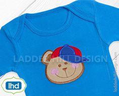 Teddy Bear Bow Applique Design  Teddy Bear Embroidery - Embroidery Designs for Boys - Applique Embroidery for Boys