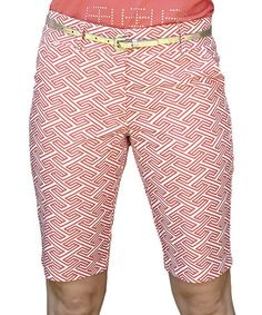 Another great find on #zulily! Coral Radiant Ashley Bermuda Shorts by GGblue #zulilyfinds