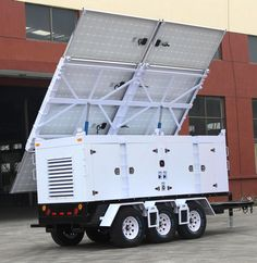 Solar Trailer Generator for Refugees Camps Solar Generator, Portable Solar Power, Solar Energy System, Solar Energy Panels, Best Solar Panels, Solar Shingles, Solar Roof Tiles, 3d Modelle, Alternative Energy