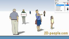 SketchUp people - scale figures for your design projects! Design Projects, 2d, Your Design, Scale, Family Guy, Memes, People, Gray, Weighing Scale