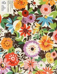 """""""Flower Patch"""" by Collier Campbell Textile Patterns, Flower Patterns, Flower Designs, Print Patterns, Textile Design, Floral Illustration, Pattern Illustration, Surface Pattern Design, Pattern Art"""