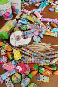 Small candy bouquets made in inexpensive containers   are great for party favors, teacher's gifts, team parties,   co-worker surprises,...