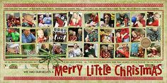 Christmas Scrapbook Layouts  | Double 12X12 layout | Scrapbooking Ideas | Creative Scrapbooker Magazine  #christmas #scrapbooking
