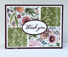 Frosted Floral Thank You Handmade card featuring Frosted Floral Designer Series Paper and the stamp set Kindness & Compassion. Created by Tracy Bradley www.stampingwitht The post Frosted Floral Thank You appeared first on Paper Ideas. Karten Diy, Stamping Up Cards, Greeting Cards Handmade, Easy Handmade Cards, Handmade Card Designs, Handmade Thank You Cards, Card Sketches, Flower Cards, Tim Holtz Flower Garden Cards