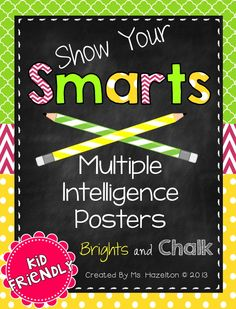 Multiple Intelligence Classroom Posters [Brights and Chalk] $