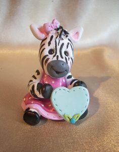 f3184014b6f2a zebra Christmas ornament Cake Topper personalized polymer clay