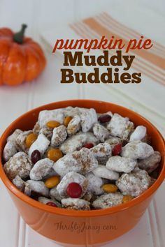 This Pumpkin Pie Muddy Buddies Recipe is perfect for lunch bags, late night snacks and Halloween and Thanksgiving party treats.