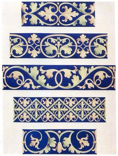 Foliate decorative borders 13th century by Design Decoration Craft