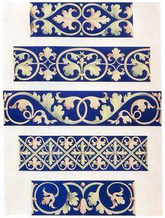Foliate decorative borders 13th century by Design Decoration Craft