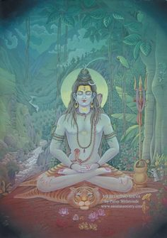 Shiva meditating. Shiva doesn't mean hes the destroyer, it's much deeper than that.