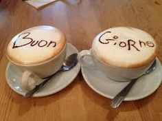 In Italy they always greet the guests first, most of the time by shaking hands and saying buon giorno or buenna sera. The last one is the most formal manner to greet someone.