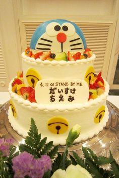 新潟市結婚式場 ブレストン ドラえもん スタンドバイミー ウェディング ケーキ パーティレポート