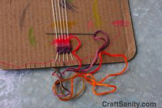 Craft sanity - http://craftsanity.com/2009/08/craftsanity-on-tv-cardboard-weaving-looms-a-table-loom-introduction/ Amazing idea to make a loom out of recycled cardboard. The kids will love to use these. They can make bookmarks or friendship bracelets. Nice thinking crafts anity.com