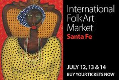 Santa Fe is buzzing with activity this time of year, and has been ranked in the Top Ten Cities for Art Markets!    Amongst all the festivities, we are especially looking forward to the International Folk Art Market in July!