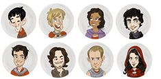BBC Merlin Buttons - Merlin, Arthur, Morgana, Knights of the Round Table +