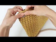 Crochet Bag Tutorials, Crochet Patterns, Diy Bags, Crochet Bags, Bag Making, Straw Bag, Diy And Crafts, Knitting, Purse
