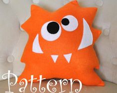 Monster Plush Pattern PDF Tutorial and Printable Templates -Nom Nom Monster Pillow Pattern-