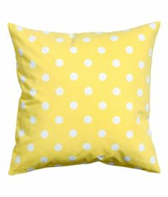 "Polka Dots Accent Decorative 100% Cotton Canvas Throw Pillow Cover Cushion 20 X 20"" Reversible Lemon Yellow and White Cushion Cover,http://www.amazon.com/dp/B00HVPMK6E/ref=cm_sw_r_pi_dp_rgjmtb1DPH6B8V22"