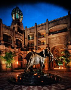 Shawu elephant statue at the Palace Hotel, South Africa Sun City Resort, North West Province, Namibia, Out Of Africa, Lost City, Hotels And Resorts, Dream Vacations, Adventure Travel, South Africa