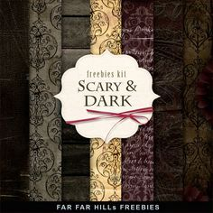 New Freebies Kit of Halloweens Paper - Scary and Dark