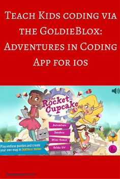 GoldieBlox Adventures in Coding : Teach your kids as young as 4 coding skills the fun way with this brand new educational gaming app. via…