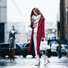 Nuestro look del día: perfecto para estos días de frío... Nos encanta la combinación de prendas y colores 😍❤️❤️ Sencillo y a la vez con mucho estilo y glamour.. #estilo #moda #look #fashion