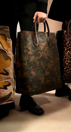 The Carryall in Camouflage Print Cotton Canvas: One of my favourite runway accessories from the Prorsum Menswear A/W15 show
