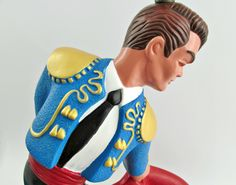 Rare and Unique Mid Century Vintage Reglor Matador Table Lamp Light / Multicolor Bullfighter / Collectible Kitsch Chalkware Statue by WestCoastModern on Etsy https://www.etsy.com/listing/205382015/rare-and-unique-mid-century-vintage