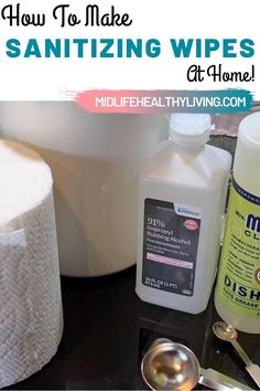 IF the stores are out and you need to clean and disinfect your home, try thse DIY Disinfecting Wipes. With a few simple ingredients you can make homemade sanitizing wipes to have on hand for spills and cleaning. Homemade Disinfecting Wipes, Homemade Cleaning Wipes, Homemade Cleaning Supplies, Household Cleaning Tips, House Cleaning Tips, Diy Cleaning Products, Cleaning Hacks, Lysol Wipes, Diy Dry Cleaning