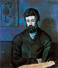 Pablo Picasso, Man in Blue 1902 on ArtStack #pablo-picasso #art