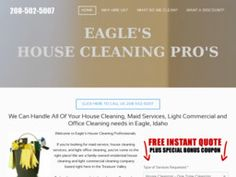 New Cleaning Services added to CMac.ws. Eagles Best House Cleaning in Eagle, ID - http://cleaning-services.cmac.ws/eagles-best-house-cleaning/130395/