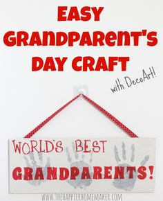 Easy Grandparents Day Craft - The Happier Homemaker