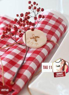 Das Weihnachtsmenu steht, die Gäste sind eingeladen. Jetzt fehlt nur noch die passende Tischdeko mit den Namen der Gäste. Einfache Anleitung.