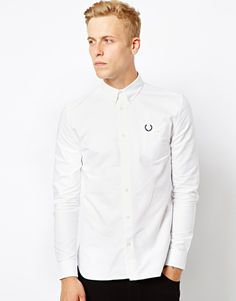 Fred Perry Laurel Wreath   Fred Perry Laurel Wreath Oxford Shirt at ASOS