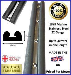 MARINE-BOAT-FENDER-BLACK-RUBBER-RUBBING-STRAKE-BOAT-YACHT Stainless Steel Strip, Marine Boat, Black Rubber, Ebay