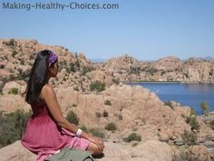 Meditating in Nature.  Click through to read the many benefits of meditation.